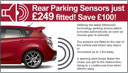 Rear Parking Sensors £249 at Preston Motorpark