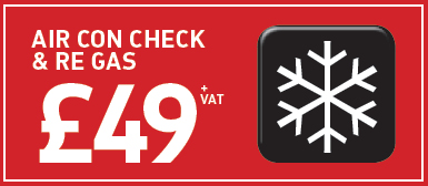Air Con Check and Re-Gas from £49*