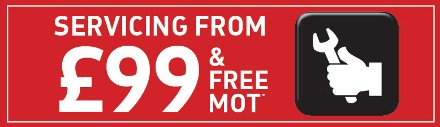 Servicing from £99 and Free MOT*
