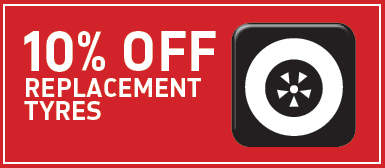 10% Off Replacement Tyres*