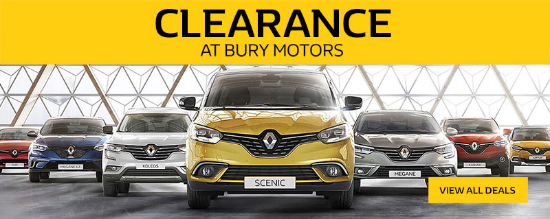 Clearance Sale - Now on at Bury Motors Renault