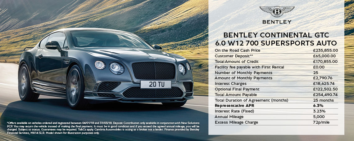 Bentley Continental Supersports Offer