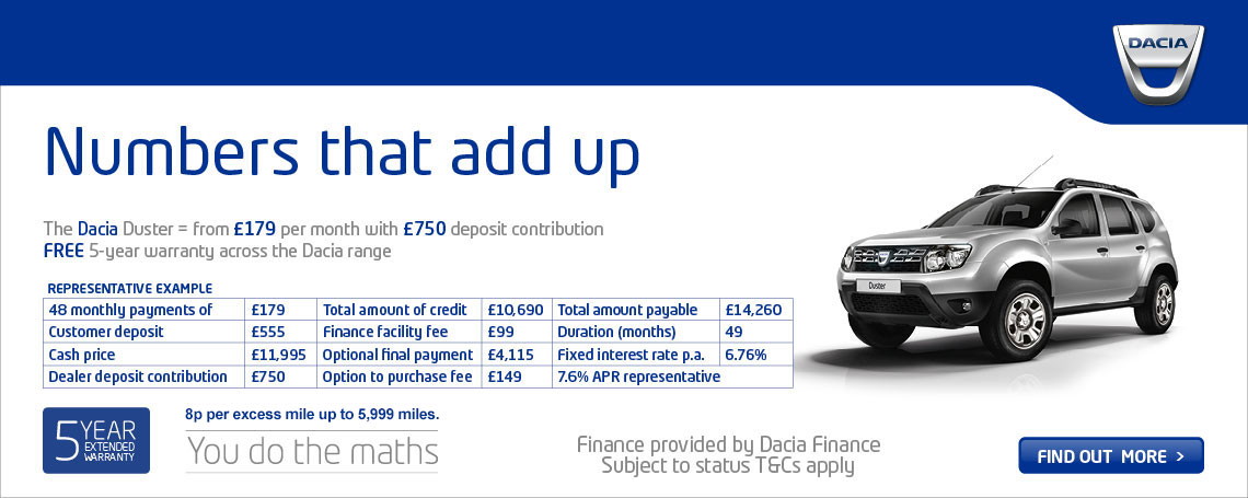 New Dacia Duster Offer