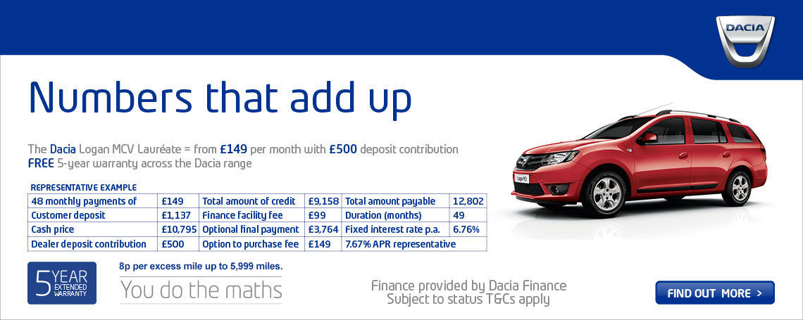 New Dacia Logan MCV Offer