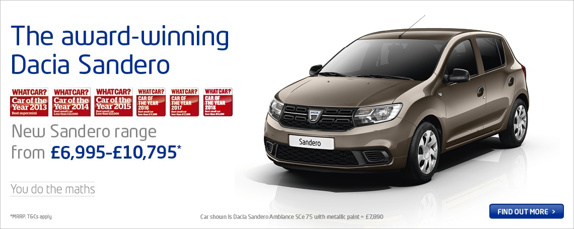 New Dacia Sandero 2018 Price Point Range