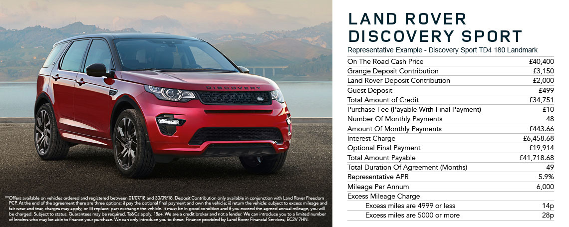 New Land Rover Discovery Sport Offer