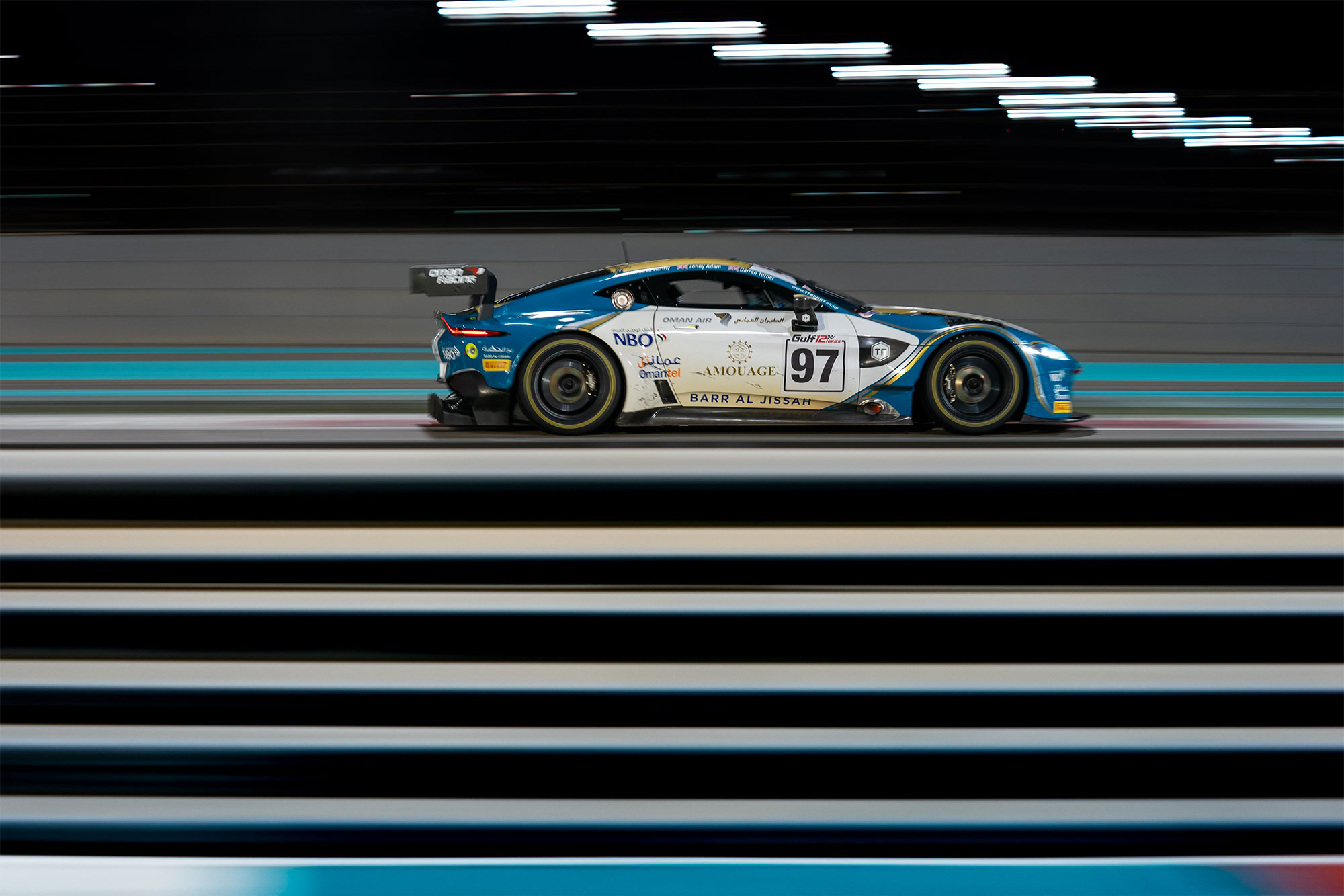 Darren Turner stars in Gulf 12 Hours with the New Aston Martin Vantage