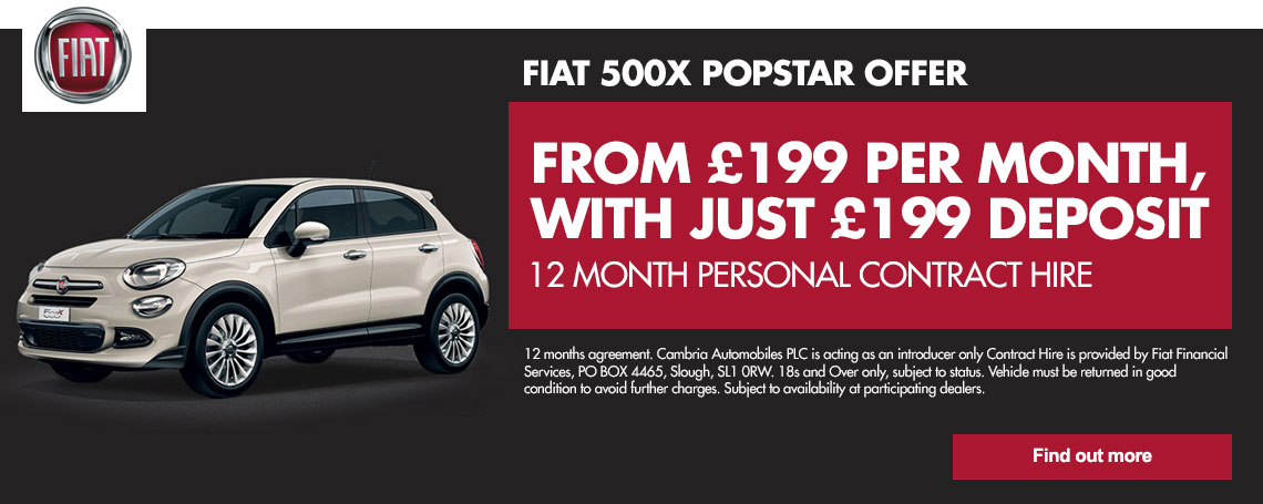 New Fiat 500X Pop Star Offer
