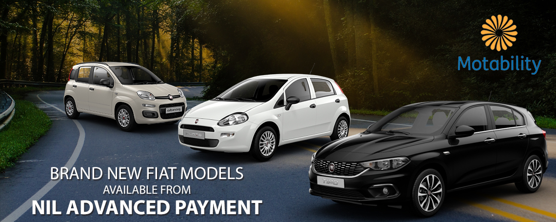 Fiat Motability Car Offers at Motorparks