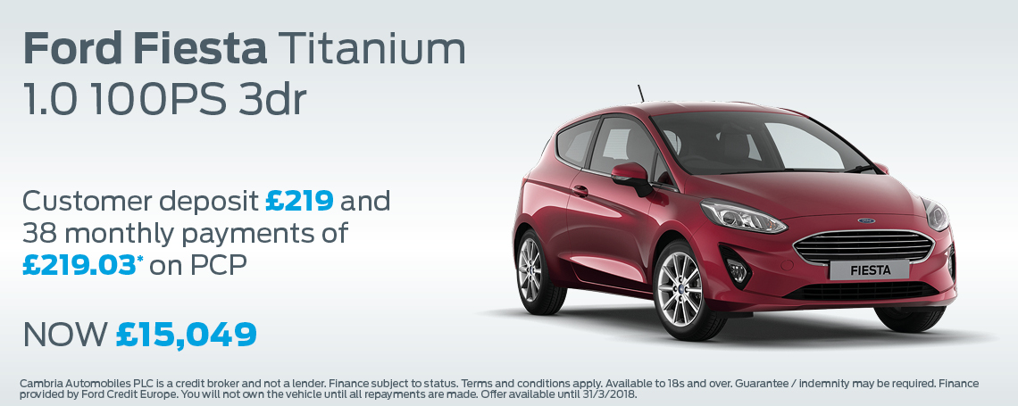 Fiesta Titanium Offer