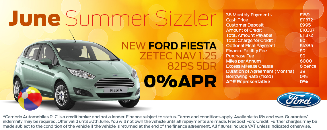 Fiesta Summer Offer