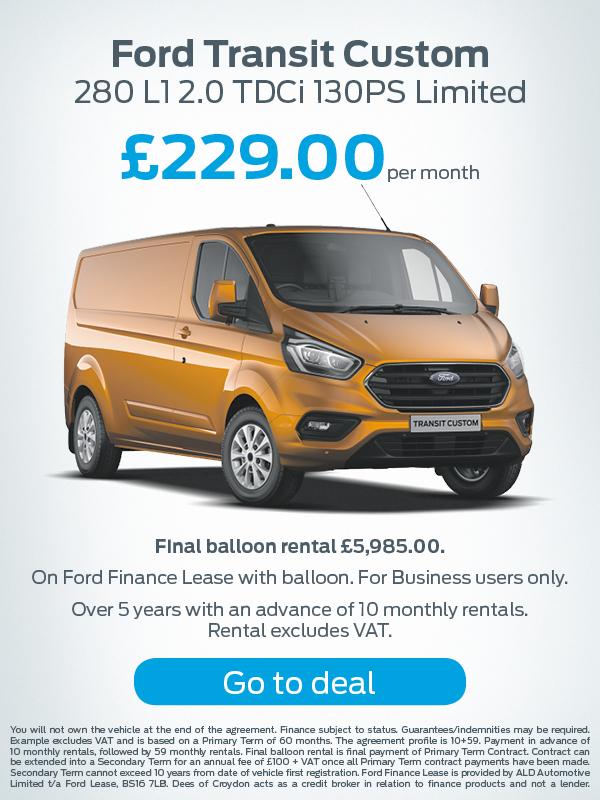 Ford Transit Custom Offer
