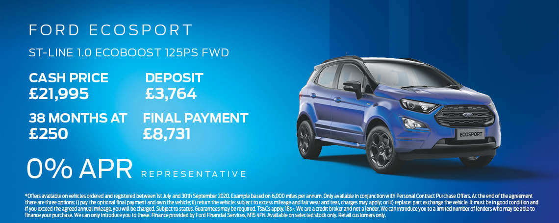 Ford EcoSport ST-Line Offer