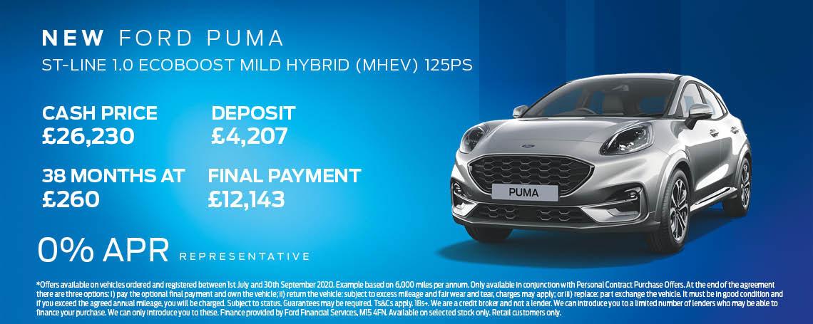 New Ford Puma Hybrid Offer