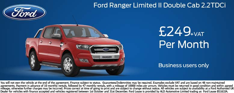 Ford Ranger Limited Offer