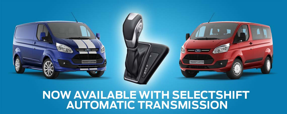 the all new ford transit custom selectshift automatic van motorparks. Black Bedroom Furniture Sets. Home Design Ideas