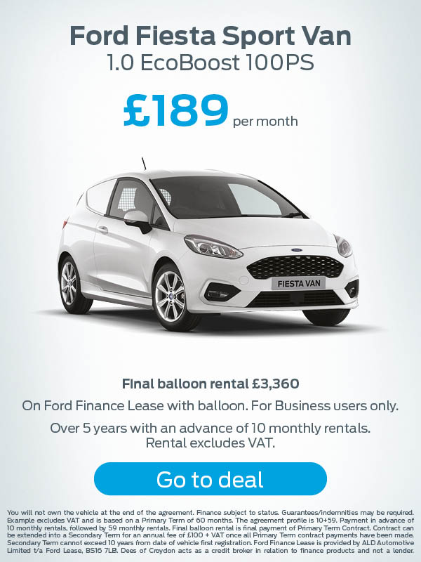 Ford Fiesta Sport Van Offer