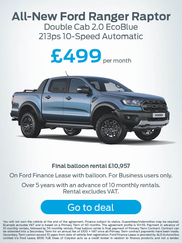 Ford Ranger Raptor Offer