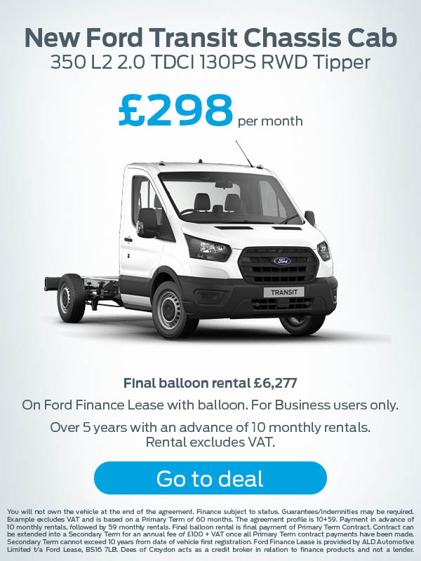 Ford Transit Chassis Cab Offer