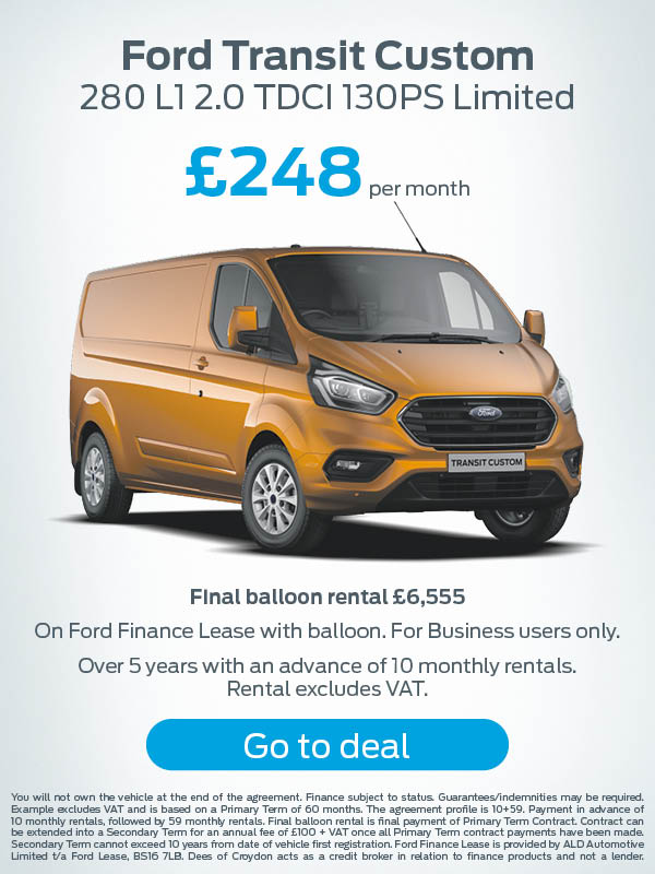 Ford Transit Custom Offer