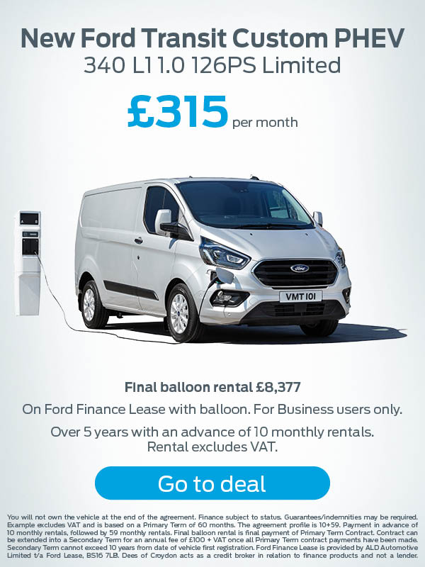 Ford Transit Custom PHEV Offer