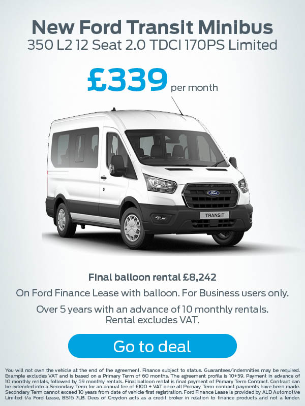 Ford Transit Minibus Offer