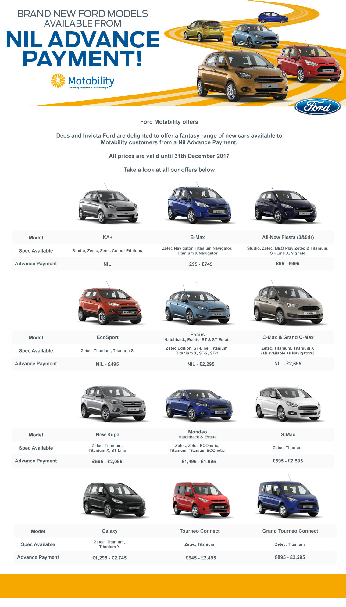 Ford Motability Offers Motorparks