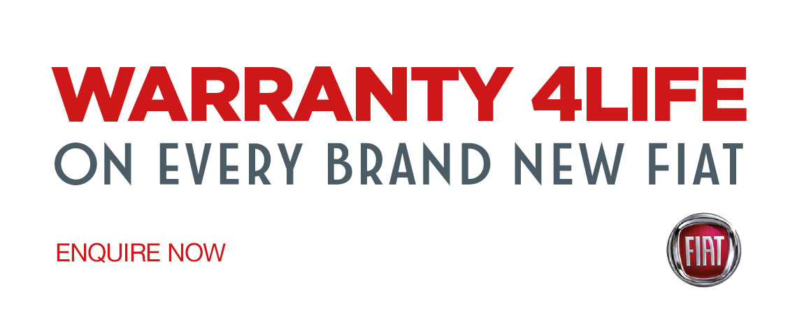 Warranty 4Life on all New Fiat Cars