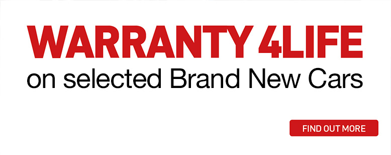 Warranty 4Life on selected Brand New Cars