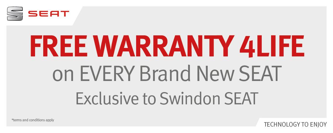 free SEAT warranty 4 life