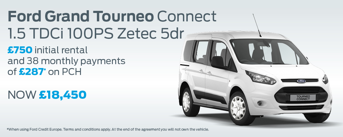 Ford Grand Tourneo Connect Finance Banner