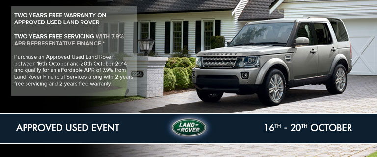 Land Rover Used Approved car event