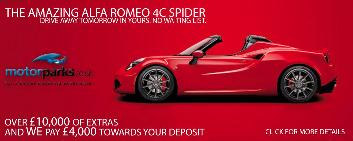 New Alfa Romeo 4C in Showroom Offer