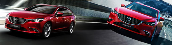 Mazda 6 Tourer and Saloon 2015 models