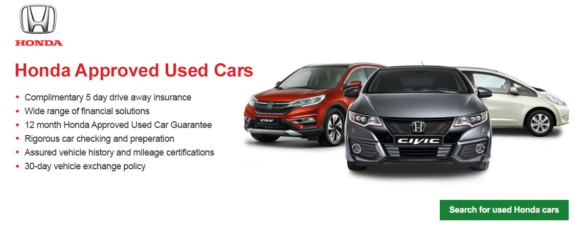 Honda Approved Used Cars at Motorparks