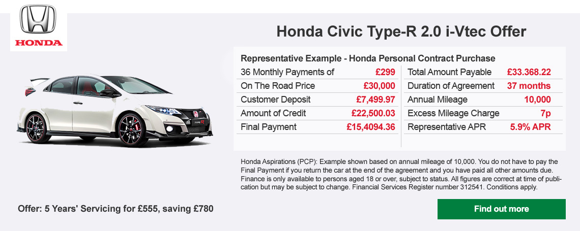 Honda Type-R offer