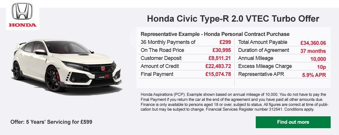 New Honda Civic TYPE-R Offer