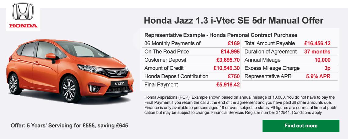 Honda Jazz Offer