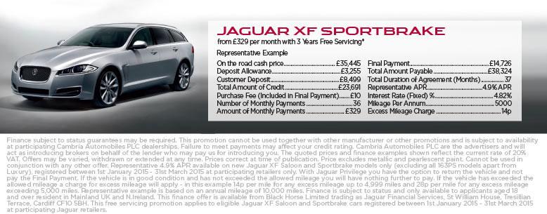 Jaguar XF Sportbrake Finance