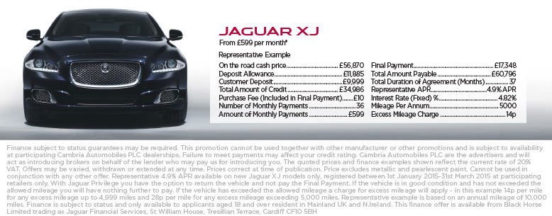 Jaguar XJ Finance