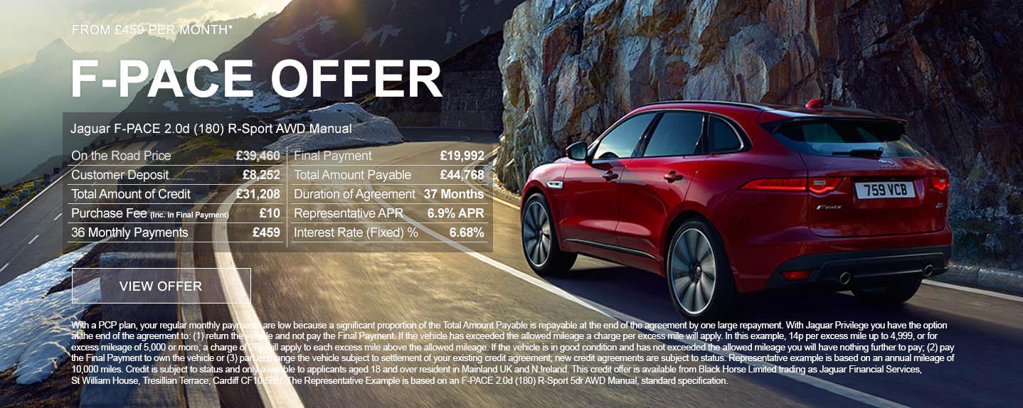 Jaguar F-PACE Offer
