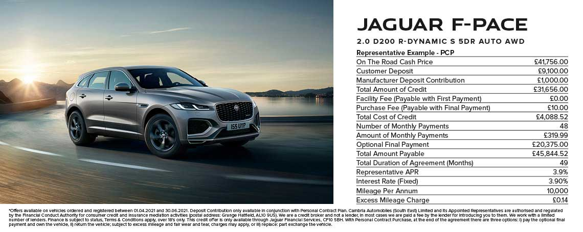All-New Jaguar F-PACE - PCP R-SPORT AWD