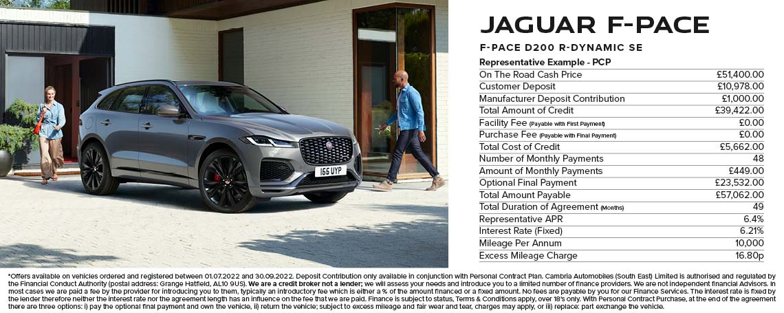 Jaguar F-Pace PCP Offer