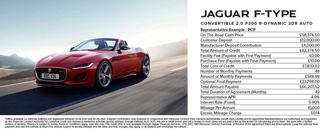 Jaguar F-TYPE Convertible Finance