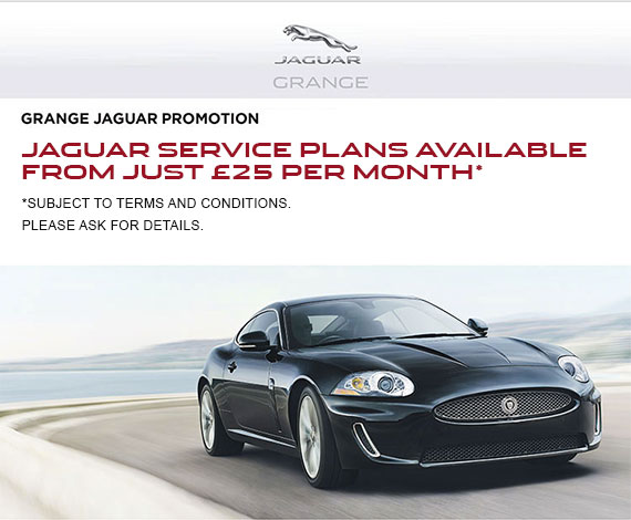 Jaguar Service plans available from just £25 per month*