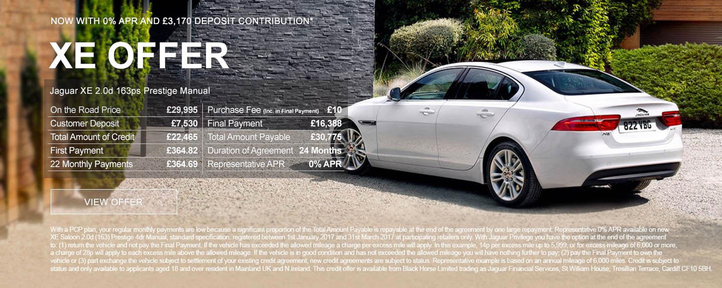 Jaguar XE £199 Prestige Offer