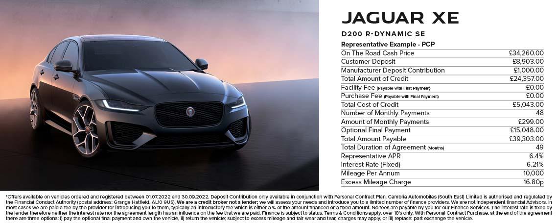 Jaguar XE PCP Offer