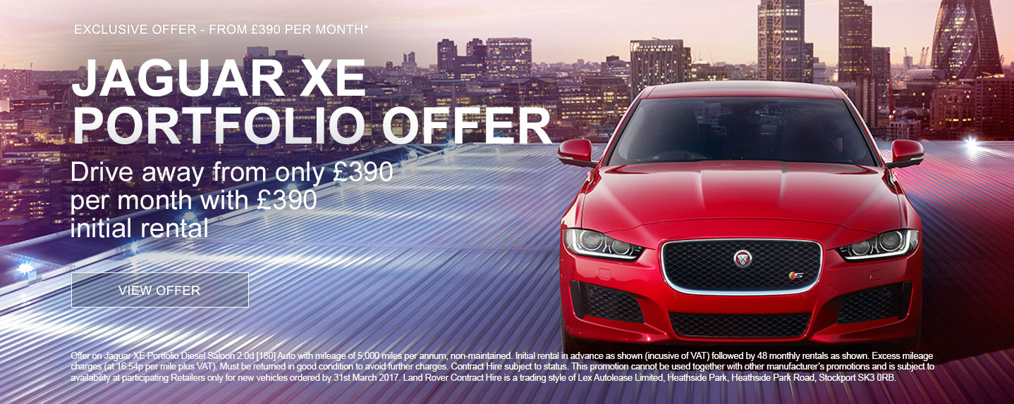 Jaguar XE Portfolio PCH Offer