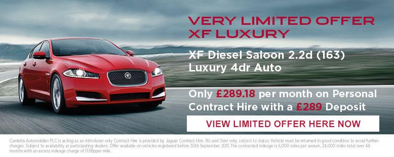 Jaguar XF £289 Offer