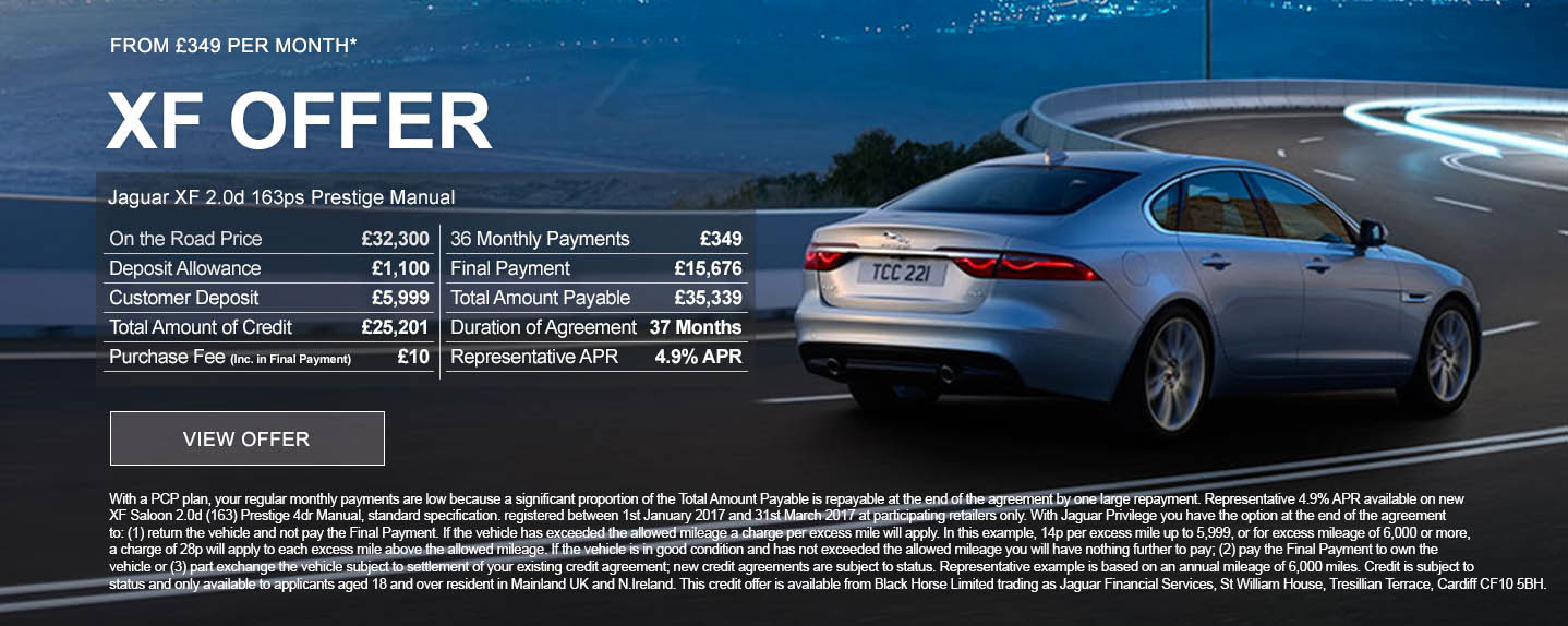Jaguar XF from only £199 Per Month*